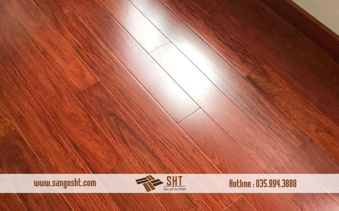 Hình ảnh sàn gỗ hương hoàn thiện