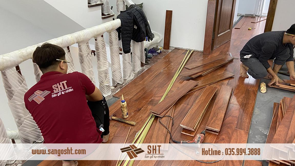 Thi công sàn gỗ lim Nam Phi