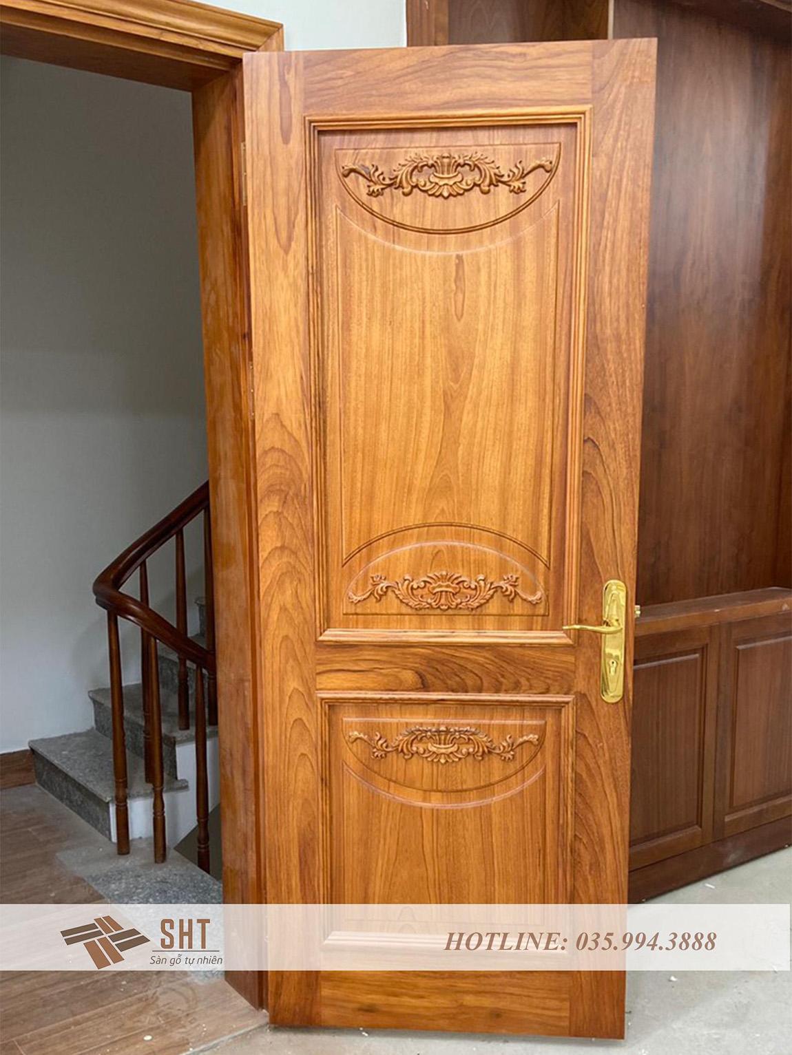 Cửa thông phòng gỗ gõ đỏ