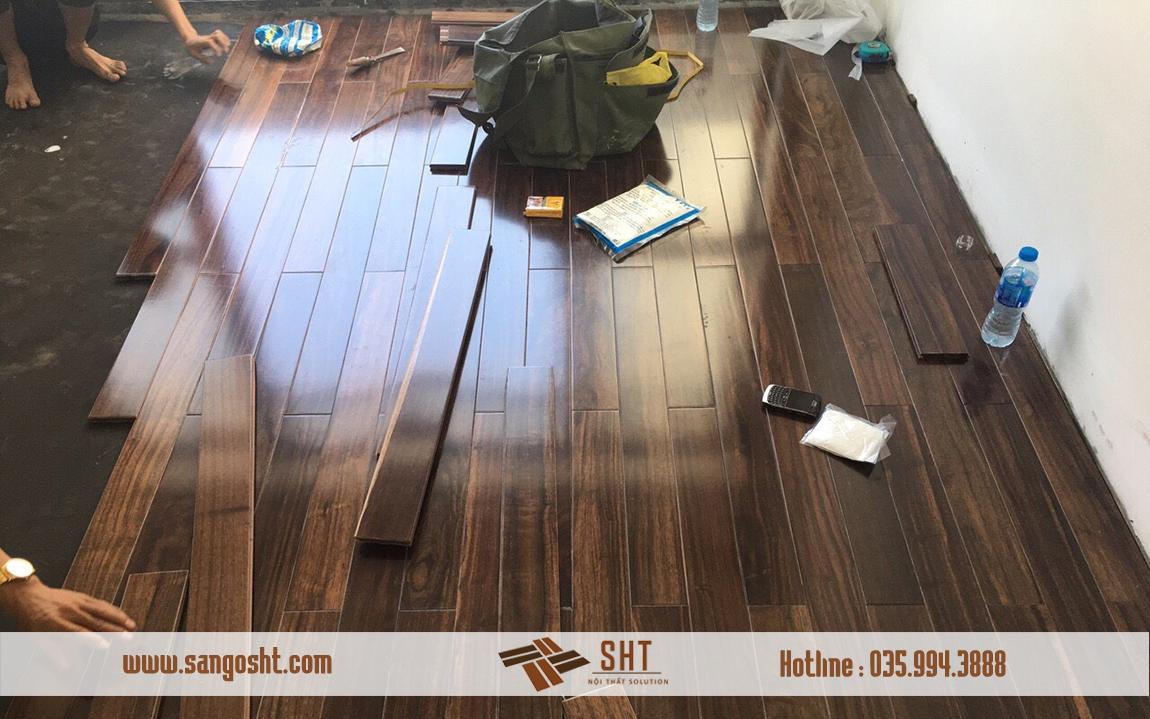Thi công sàn gỗ chiu liu tại Hà Nội