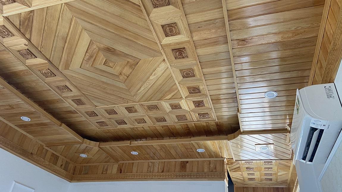 Trần gỗ tự nhiên Pơ Mu