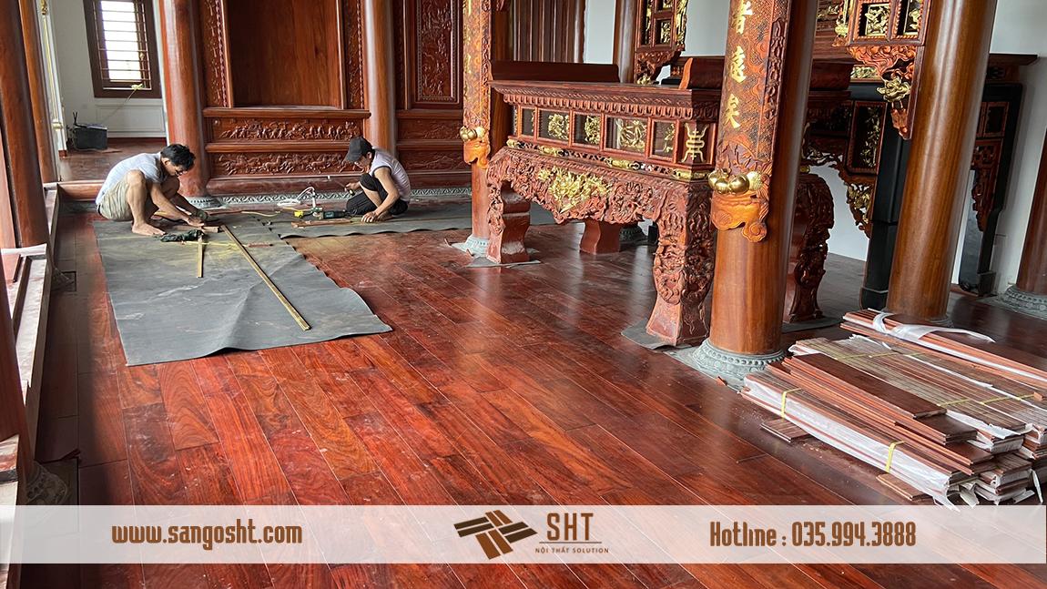 Thi công sàn gỗ Hương Nam Phi