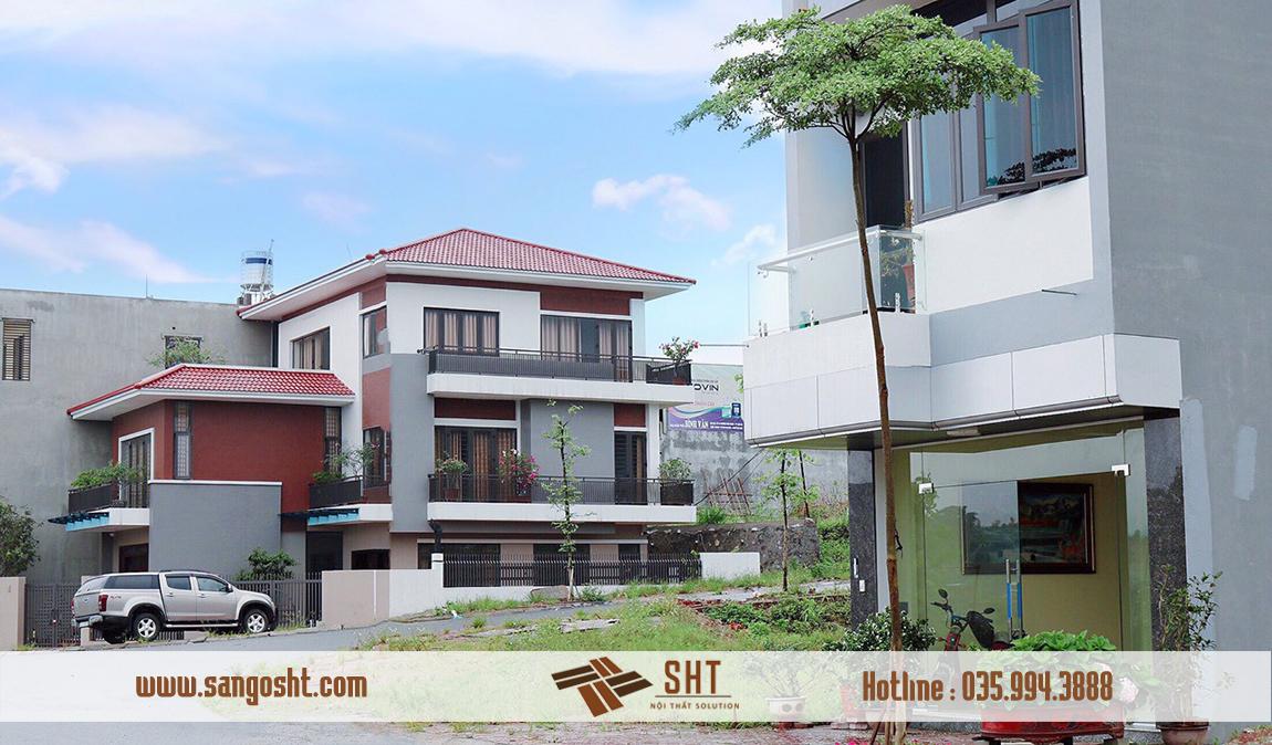 Thi Công Nội Thất Gỗ Gõ Đỏ Biệt Thự Tại Đô Thị Kosy Bắc Giang