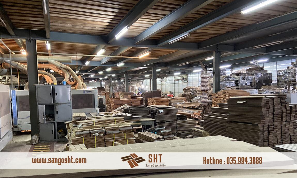 Nhà máy sản xuất sàn gỗ tự nhiên cao cấp