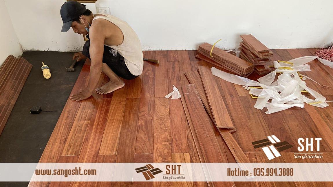 Thi công sàn gỗ chuẩn đẹp