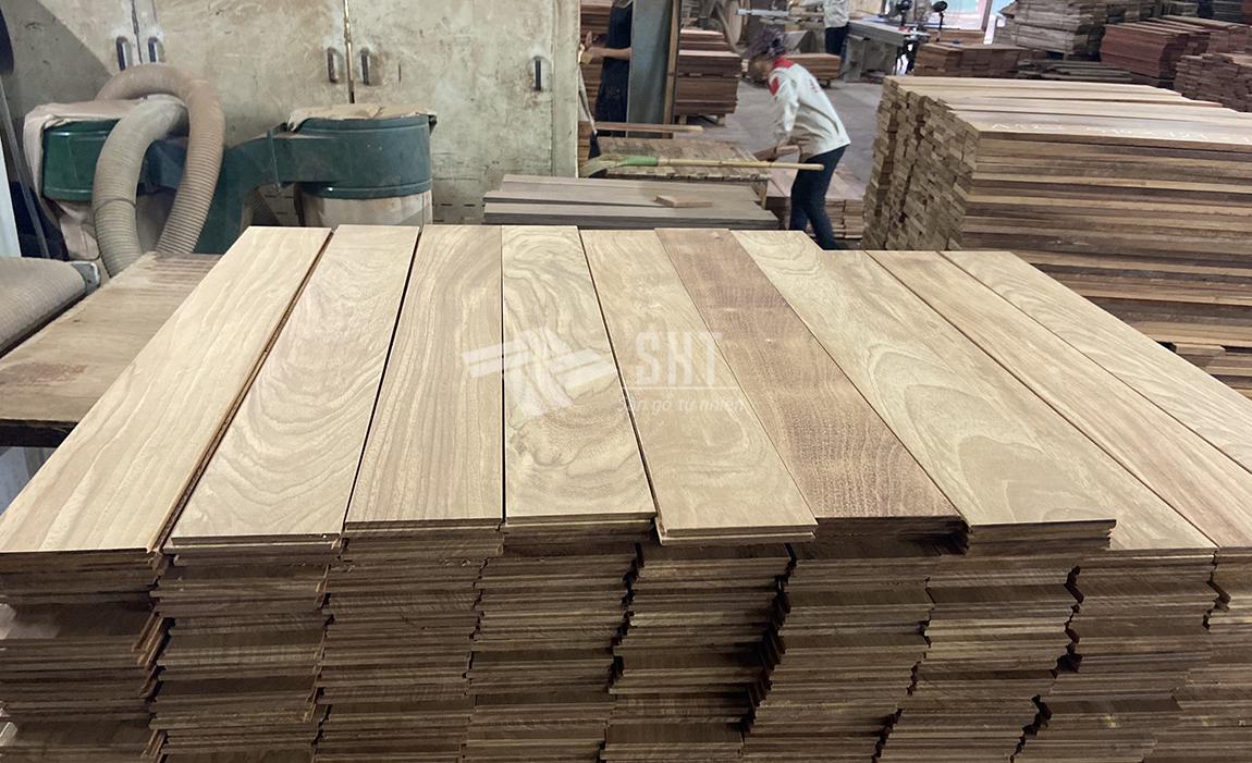 Ván sàn gỗ gõ đỏ Nam Phi